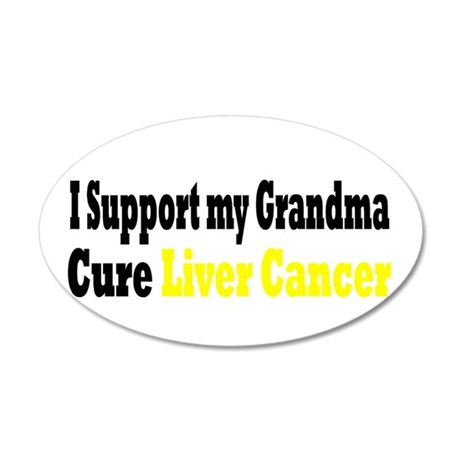 Liver Cancer 22x14 Oval Wall Peel