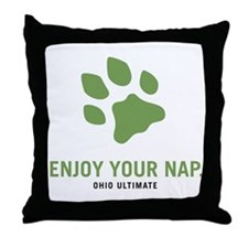 Ohio Ultimate Throw Pillow (Black)