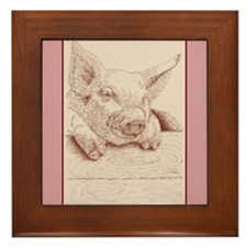 Pig Framed Tile