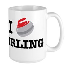 I Heart Curling Mugs