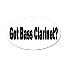 Bass Clarinet 22x14 Oval Wall Peel