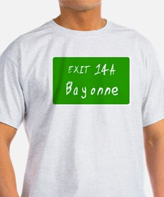 Exit 14A, Bayonne, NJ Ash Grey T-Shirt