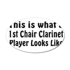 1st Chair Clarinet 22x14 Oval Wall Peel