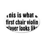 Violin 38.5 x 24.5 Oval Wall Peel