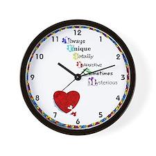 Autism Awareness Clocks Wall Clock