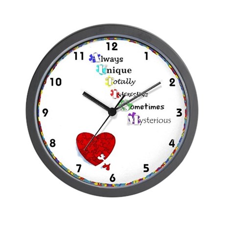 Autism Awareness Clocks Wall Clock