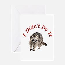Raccoon Humorous Greeting Card