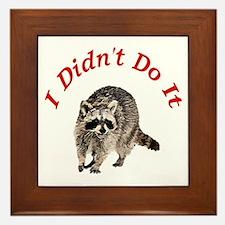 Raccoon Humorous Framed Tile