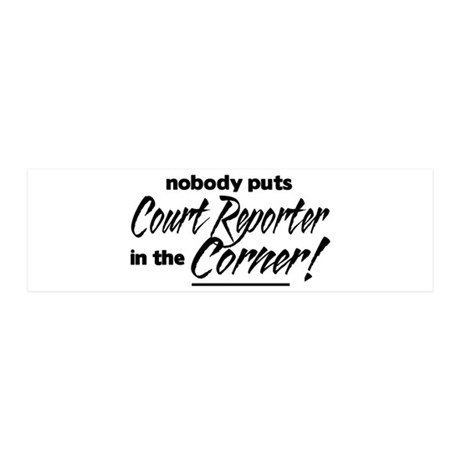 Court Reporter Nobody Corner 21x7 Wall Peel