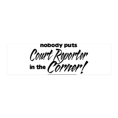 Court Reporter Nobody Corner 42x14 Wall Peel