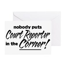 Court Reporter Nobody Corner Greeting Cards (Pk of