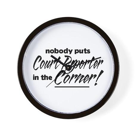 Court Reporter Nobody Corner Wall Clock