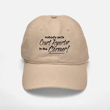 Court Reporter Nobody Corner Baseball Baseball Cap