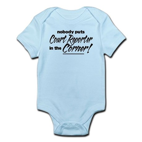 Court Reporter Nobody Corner Infant Bodysuit