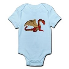 Red and Gold Winged Dragon Infant Bodysuit