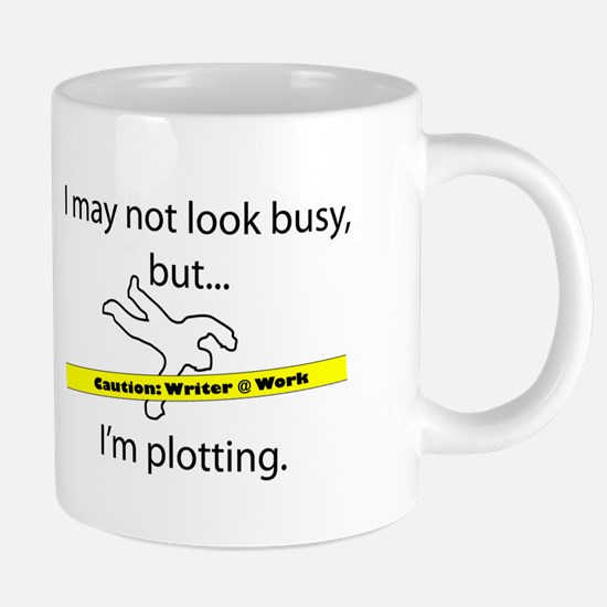 Beware: Plotting Writer 20 oz Ceramic Mega Mug