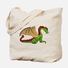 Green and Gold Winged Dragon Tote Bag