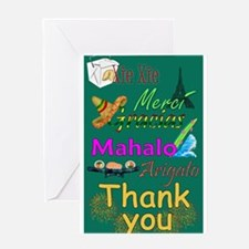 In Any Language, Thank You Greeting Card
