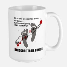 Hardcore Trail Runner Large Mug