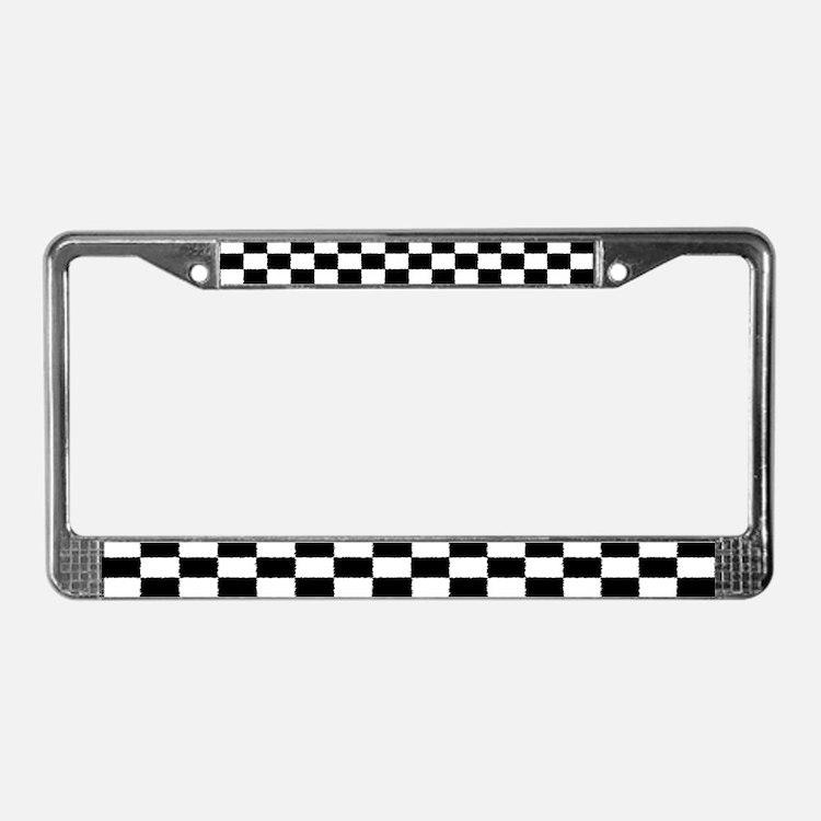 Checkered Flag License Plate Frame