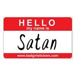 Hello my name is.. SATAN Sticker