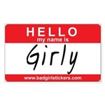 Hello my name is.. Girly Sticker