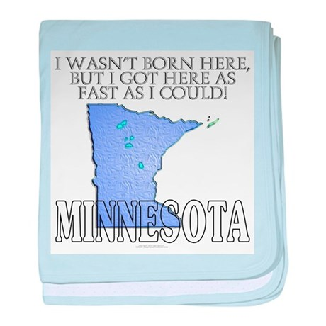 Got here fast! Minnesota baby blanket