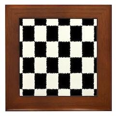 Checkered Flag Framed Tile