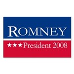 MITT ROMNEY PRESIDENT 2008 Rectangle Sticker