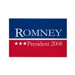 MITT ROMNEY PRESIDENT 2008 Rectangle Magnet (10 pa