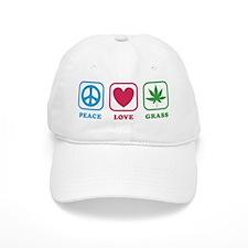 Peace Love Grass Baseball Cap