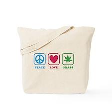 Peace Love Grass Tote Bag