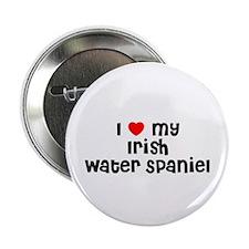 "I * my Irish Water Spaniel 2.25"" Button (10 pack)"