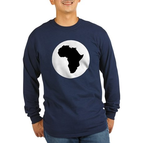 Africa Long Sleeve Dark T-Shirt
