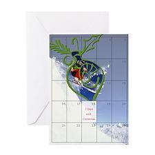 7 Days to Christmas Greeting Card