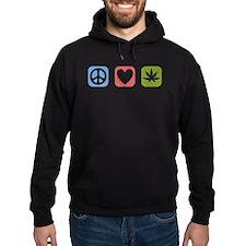Peace Love Cannabis Hoodie