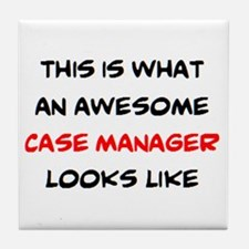 awesome case.manager Tile Coaster