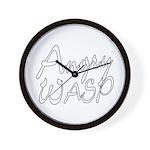Angry Wasp Wall Clock