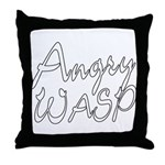Angry Wasp Throw Pillow