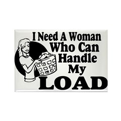 Handle My Load Rectangle Magnet