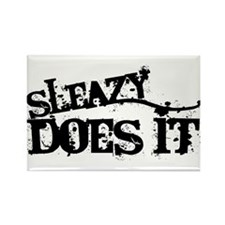 Sleazy Does It Rectangle Magnet