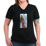 book fairy Women's V-Neck Dark T-Shirt