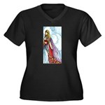 book fairy Women's Plus Size V-Neck Dark T-Shirt