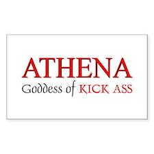 """Athena: Goddess of KICK ASS"" Sticker (Rectangular"