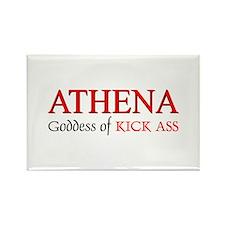 """""""Athena: Goddess of KICK ASS"""" Rectangle Magnet (10"""