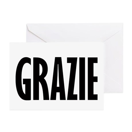 Italian Thank You Greeting Cards (Pk of 20)