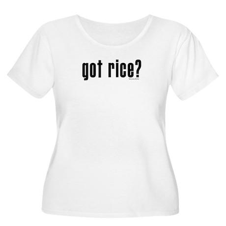 got rice? Women's Plus Size Scoop Neck T-Shirt