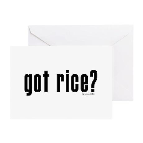 got rice? Greeting Cards (Pk of 20)