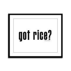 got rice? Framed Panel Print