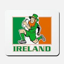 Irish leprechaun rugby Mousepad